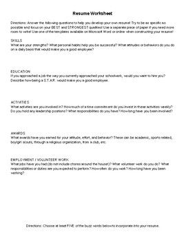 Writing A Cv Esl Lesson Sample Customer Service Resume