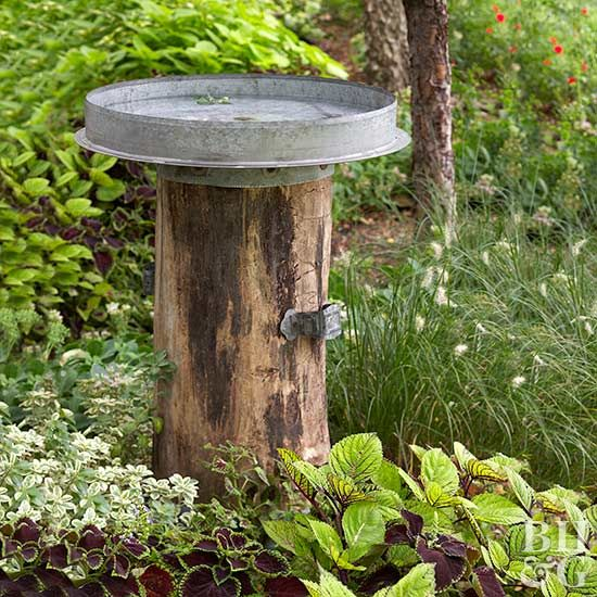 Make A Rustic Birdbath From Flea Market Finds Bird Bath Garden Bird Bath Rustic Bird Baths