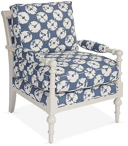 Lily Accent Chair Slate Blue Miles Talbott Accent