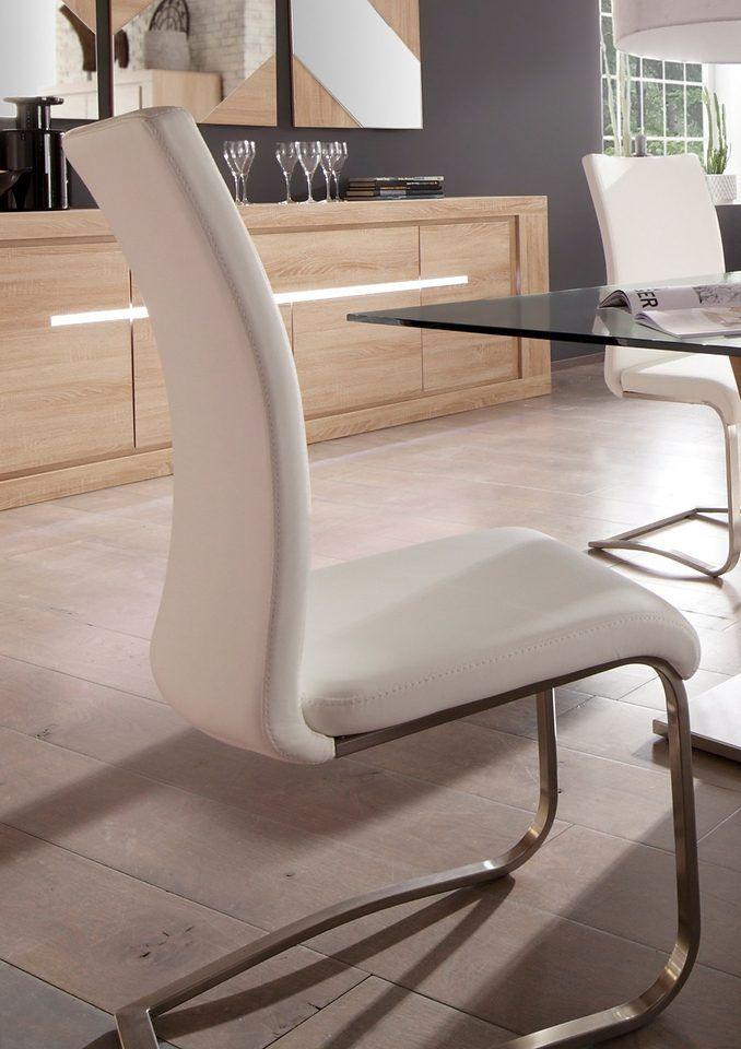 Stühle/Schwingstühle weiß, 1 Pack \u003d 4 Stück, yourhome Jetzt - stühle für die küche