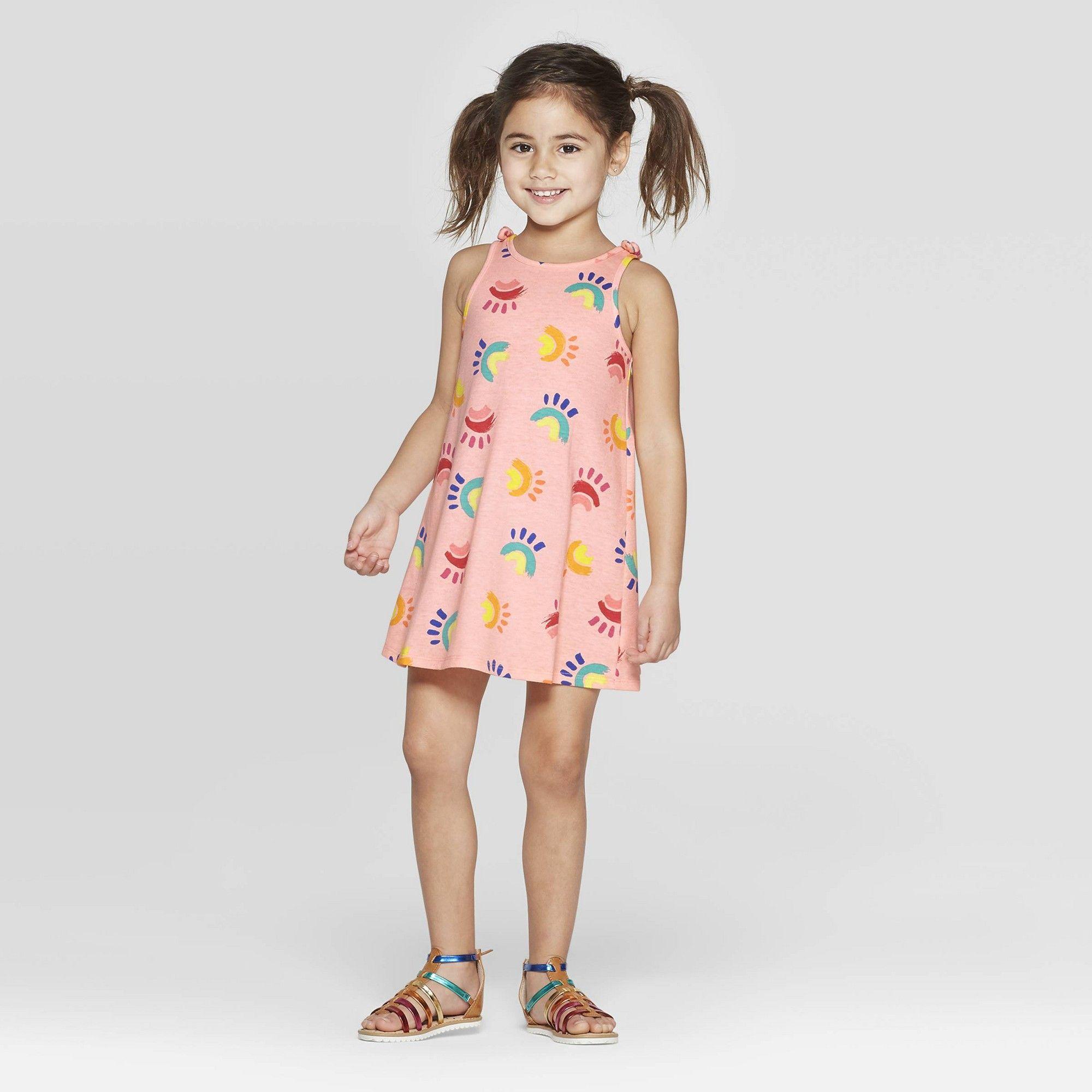 56d7c6556 Toddler Girls' A Line Dress - Cat & Jack Peach 3T, Girl's, Purple in ...