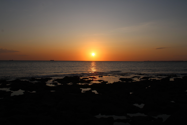 atardecer en la playa de santa catalina, en El Puerto de Santa María