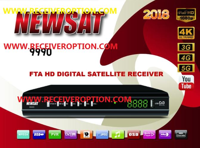 NEWSAT 9990 HD RECEIVER 2018 AUTO ROLL POWERVU KEY NEW