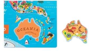 Janod World Map.Janod 93 Piece Magnetic World Map Piece Janod Map Puzzles Game