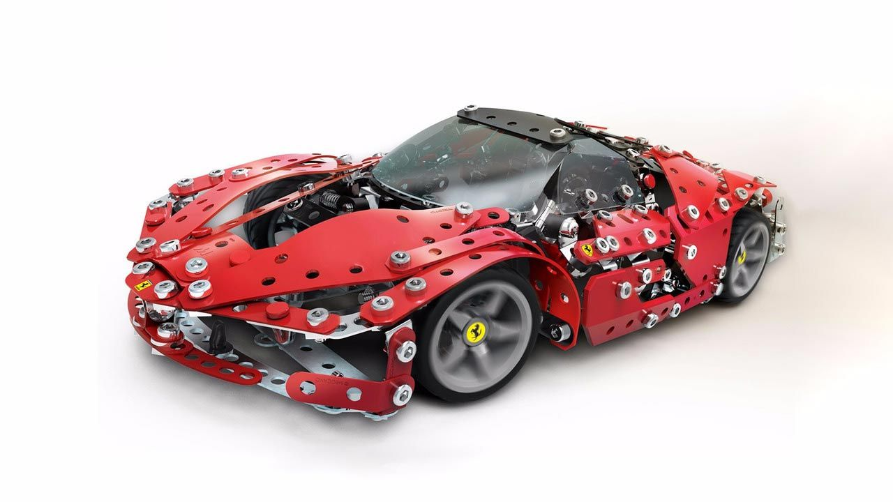 Build Your Own Ferrari Laferrari And 488 Spider With Meccano Toy Set