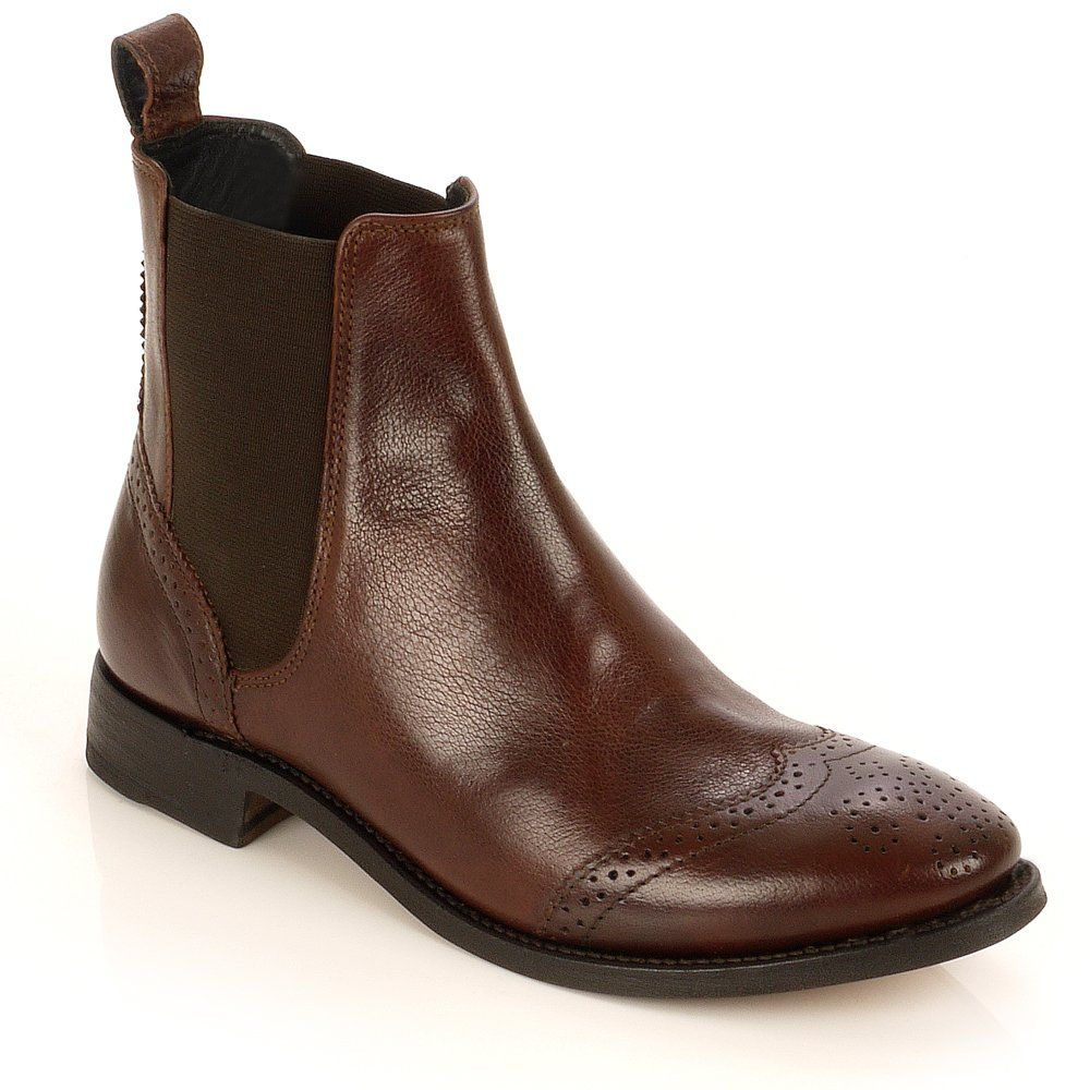 Brown Flat Ankle Boots - Cr Boot
