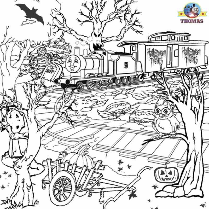 Scary Coloring Pages For Teens Free Printable Halloween Ideas Kids Activities Thomas Co Halloween Coloring Pages Halloween Coloring Sheets Halloween Coloring