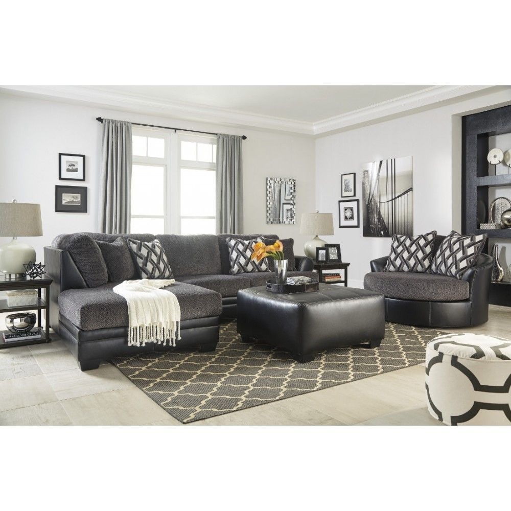 Ashley Furniture Kumasi Sectional in Smoke | Space Saving Sectionals ...