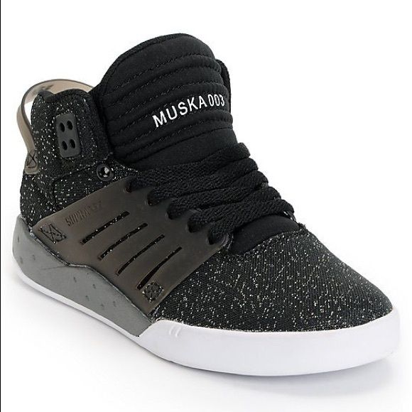 Supra Muska 003 Womens Supra Womens Skytop III Black Glitter Shoes.  Official 3rd edition of Chad Muska Skytop by Supra. Rubber side walls in  skate sensitive ... 1c597792f