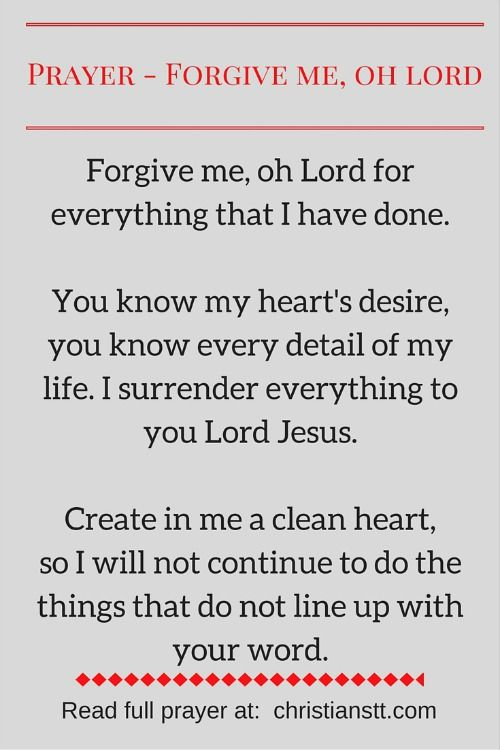 Prayer - Forgive me my sins, Oh Lord | LOVE GOD | Prayer for