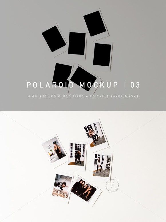 Polaroid Pile Mockup Psd Jpg Blogger Photos Styled Stock Photography Stock Photo Polaroid Photo Blog Hero Her Mockup Polaroid Template Business Blog