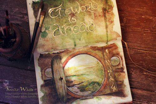 Illustration art lord of the rings the hobbit LOTR gandalf kinko white