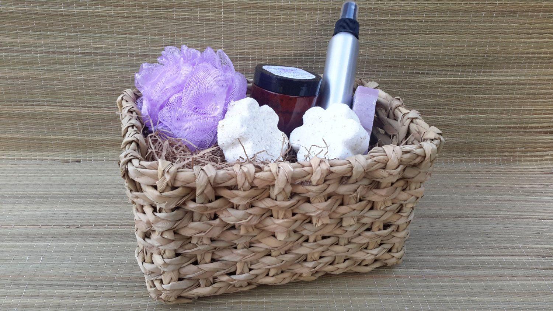 Gift basket for her handmade soap sugar scrub bath