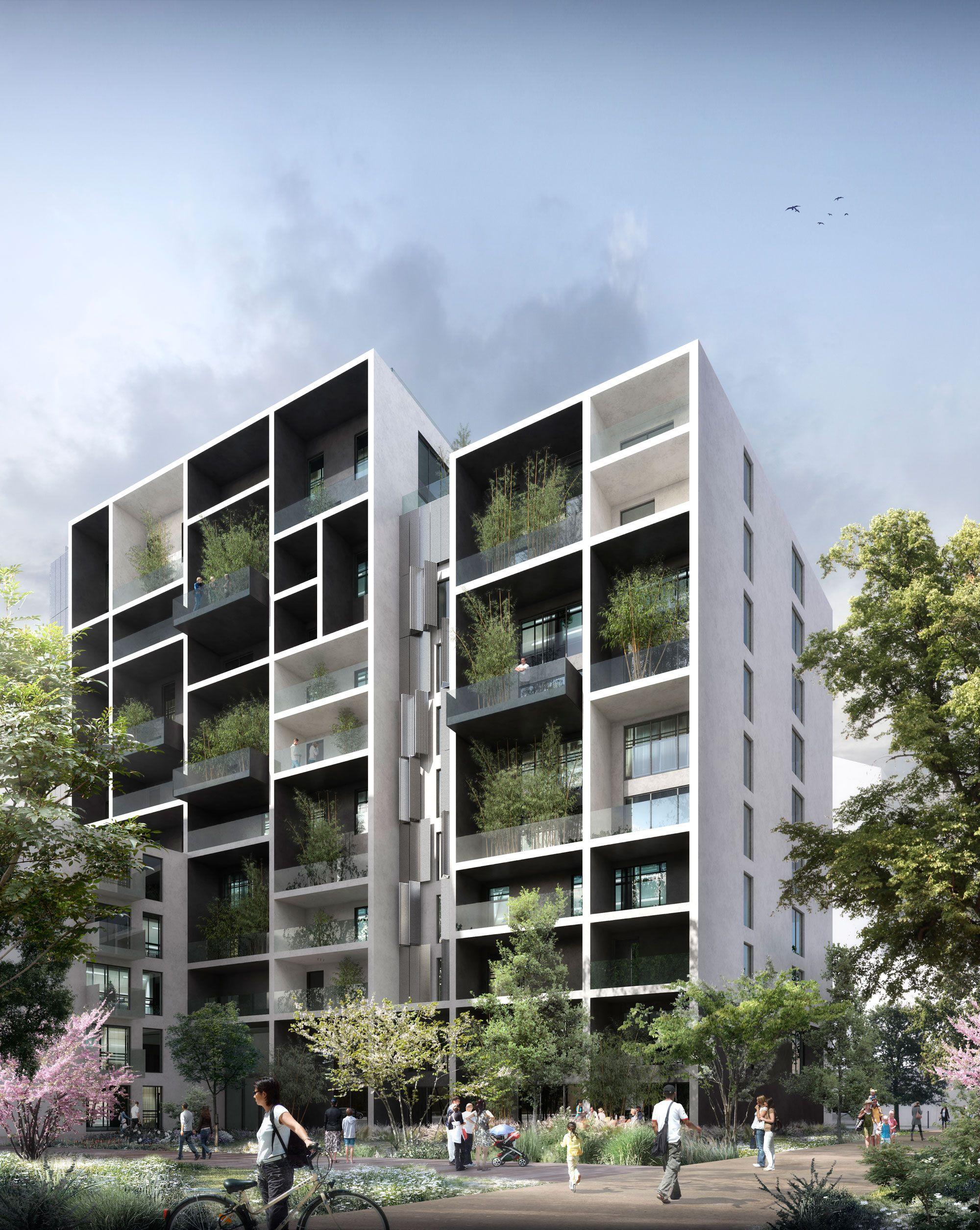 Projet de logements collectifs zac des Girondins à Lyon agence d ...