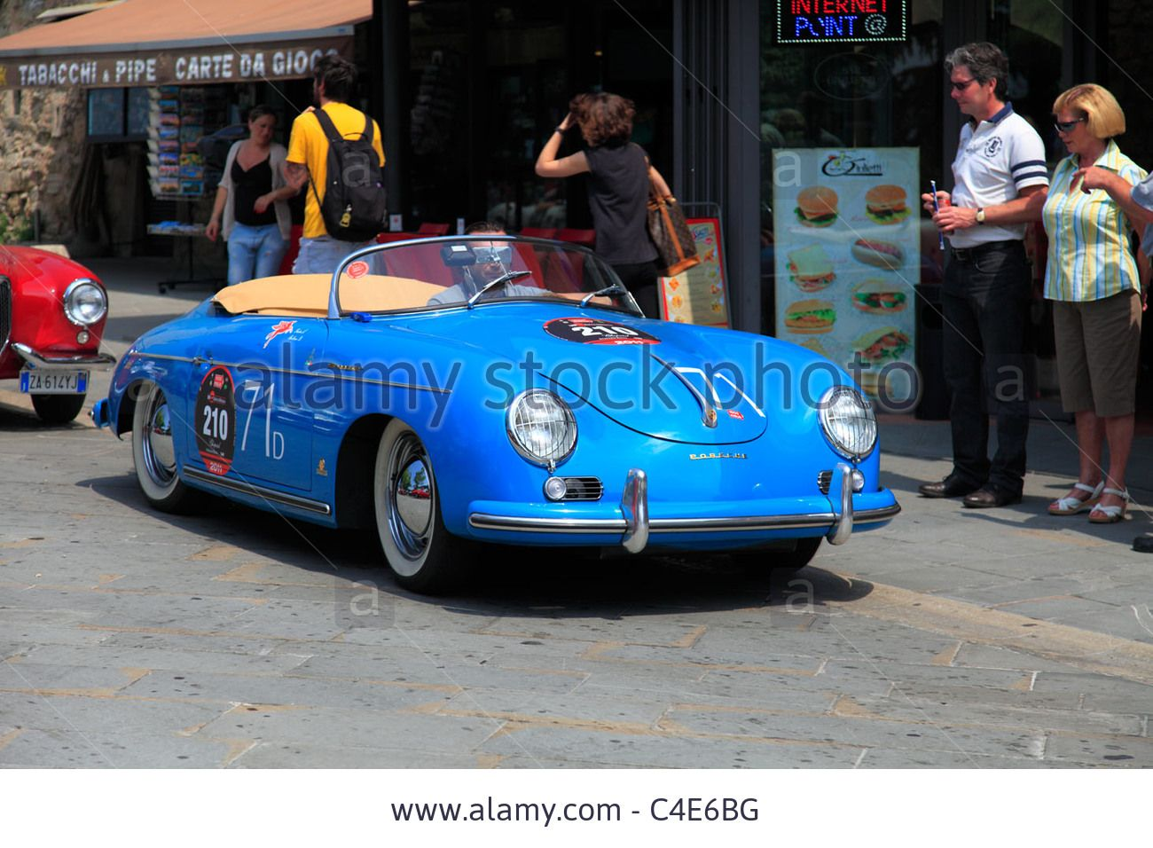 Download this stock image: Mille Miglia 2011, Porsche 356 1500 Speedster 1954 - C4E6BG from Alamy's library of millions of high resolution stock photos, illustrations and vectors.