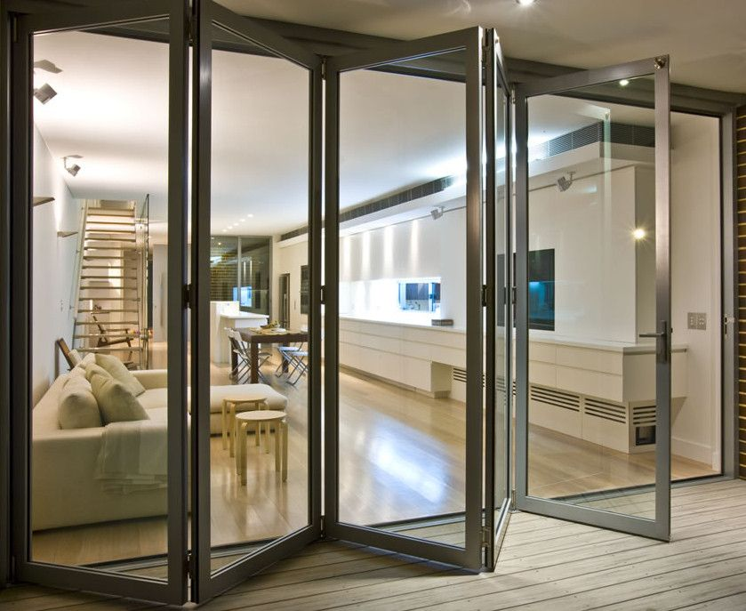 Folding Glass Door. Would Take Up Less Space Than The Garage Door, But May
