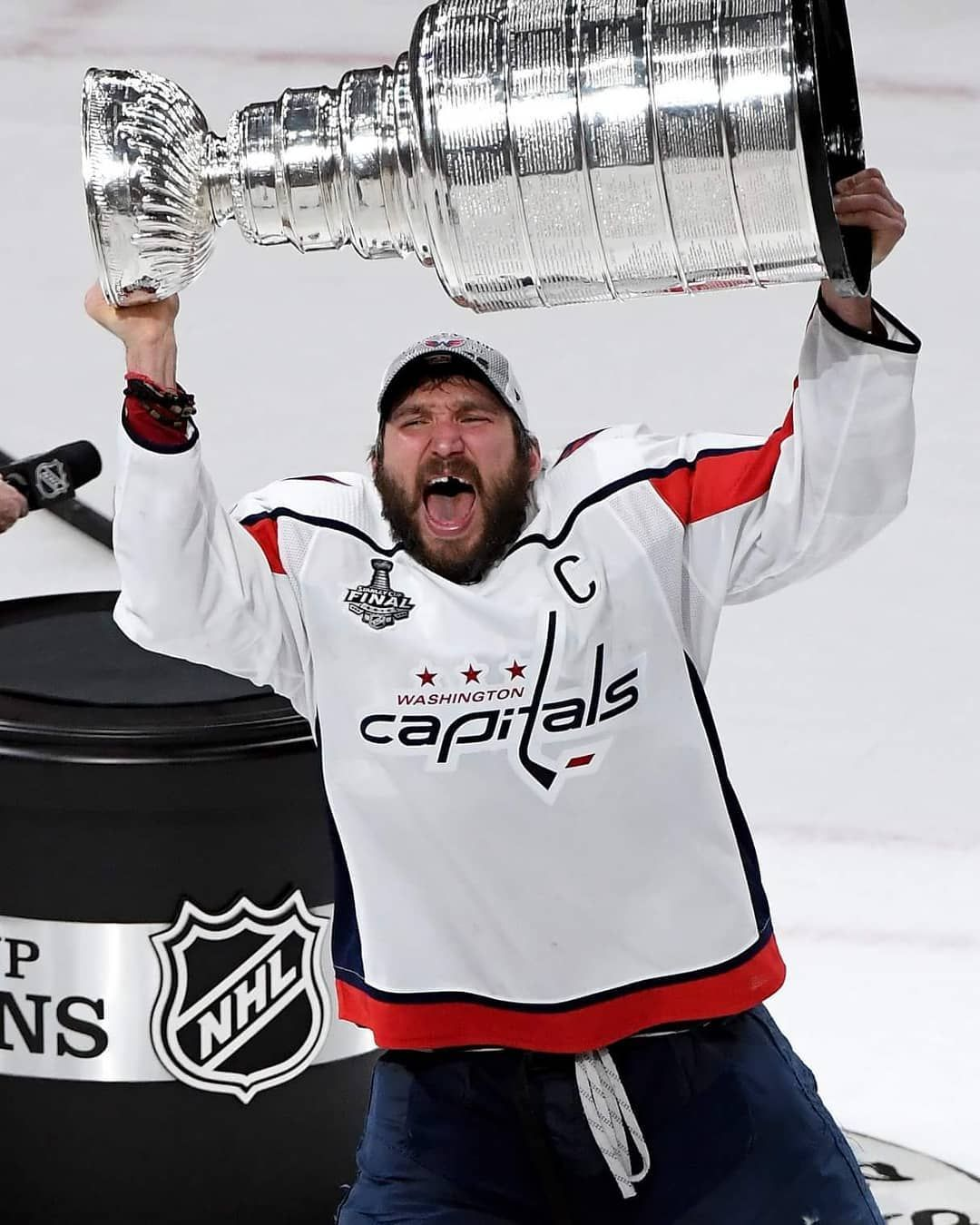 meet 9728c cde60 Alexander Ovechkin holding the Stanley Cup over his head is ...