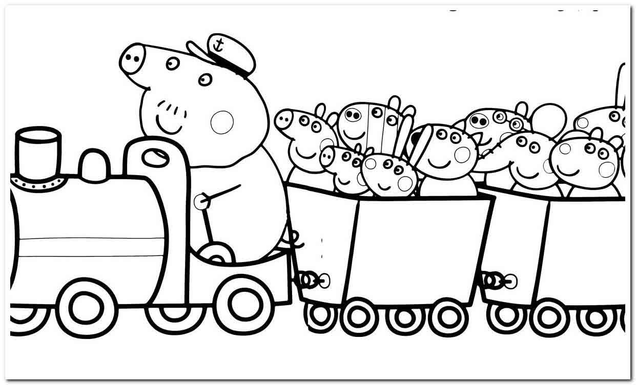 72 Coloring Pages Peeps Coloring Page In 2020 Peppa Pig Coloring Pages Peppa Pig Colouring Train Coloring Pages