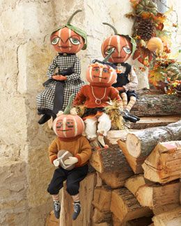 -4HRT Pumpkin Doll Decorations