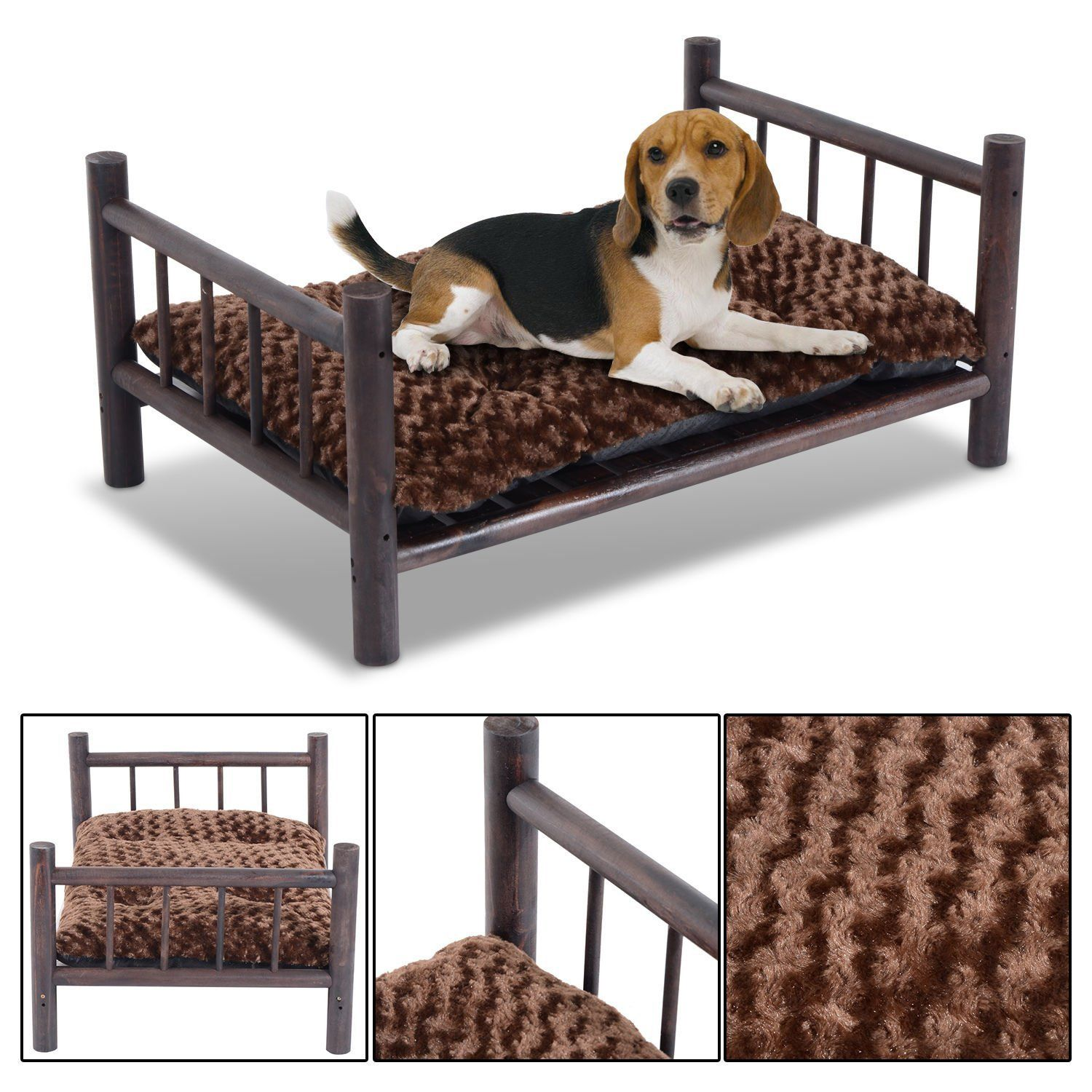 Pet Bed Dog Beds Cat Puppy Large Wooden Couch
