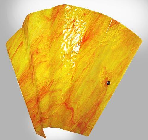 Sensu wall sconce in wonderful yellow/orange/red art glass ...