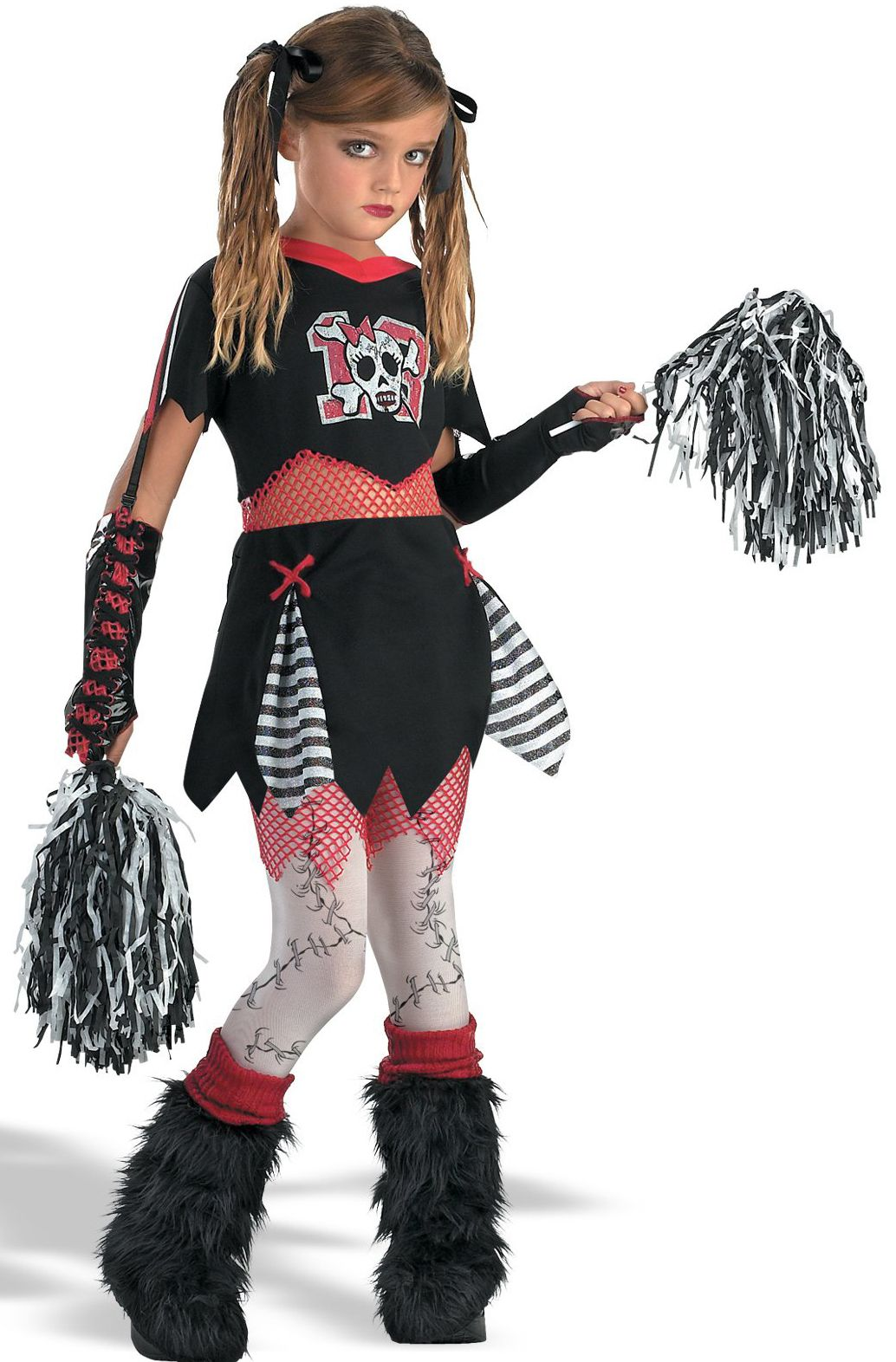 Cheerless Leader Child Costume This is the cheerleader Halloween costume with a horror twist. The black and white cheerleader dress includes a skull school ...  sc 1 st  Pinterest & Cheerless Leader Child Costume This is the cheerleader Halloween ...