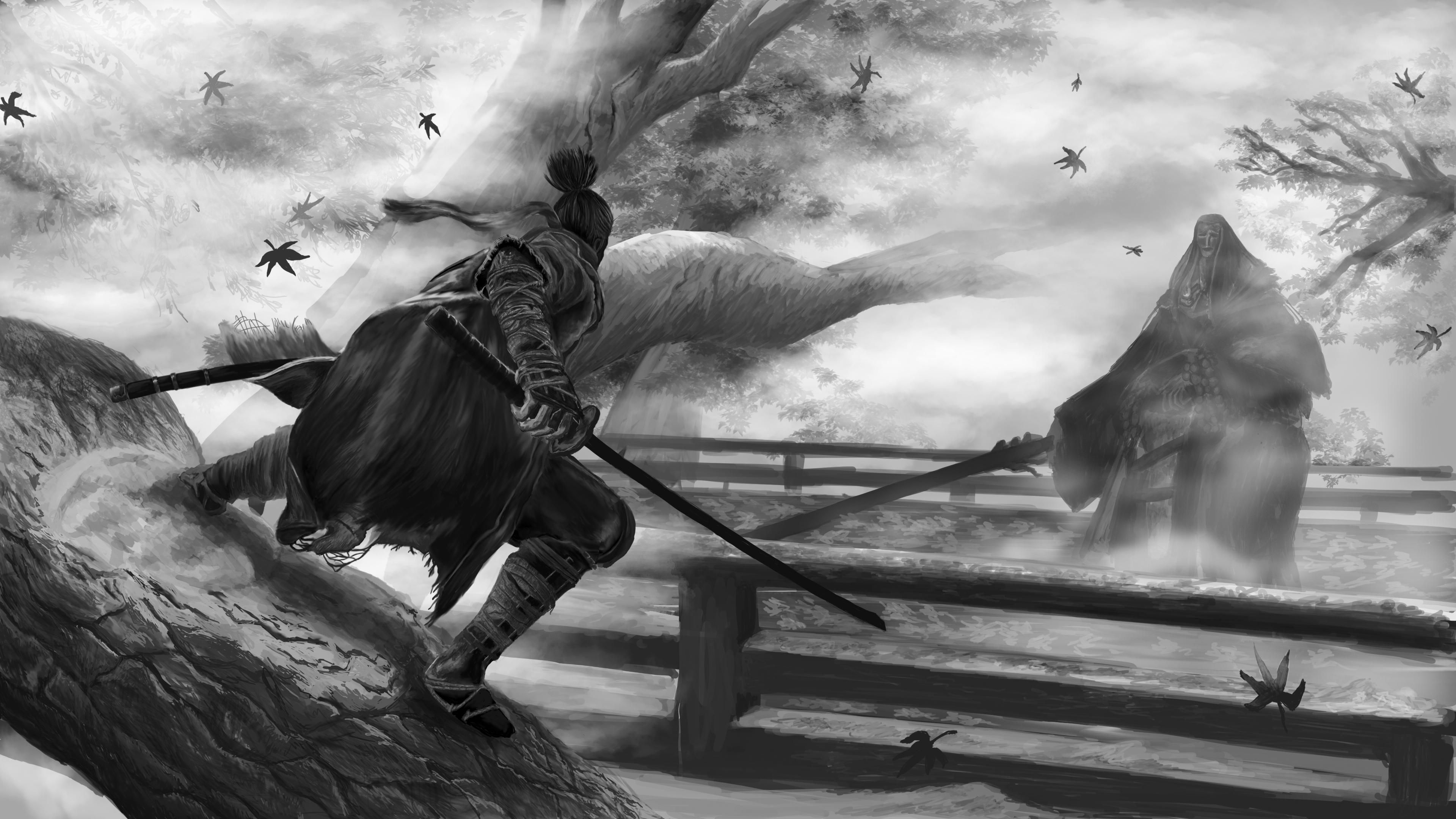 Sekiro Corrupted Monk Fight Digital 4k Dark Souls Art Dark Fantasy Art 4k Wallpapers For Pc