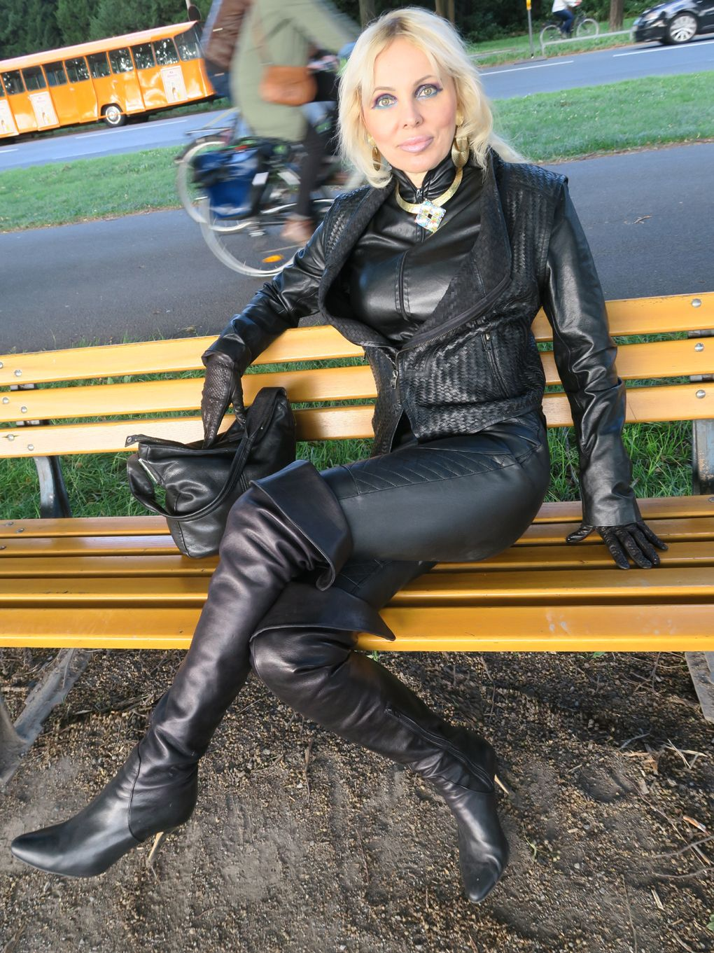 Lorexa Lederlady Lorexina Im Leder Kombination  Outfit -7066