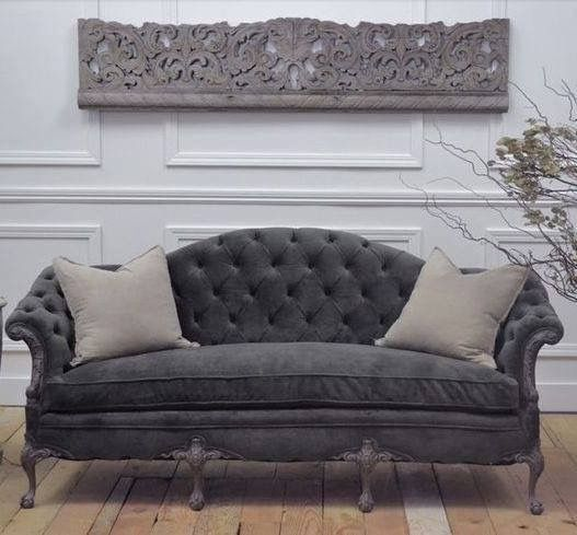 Antique Sofa Vintage Sofá Style Velvet Tufted