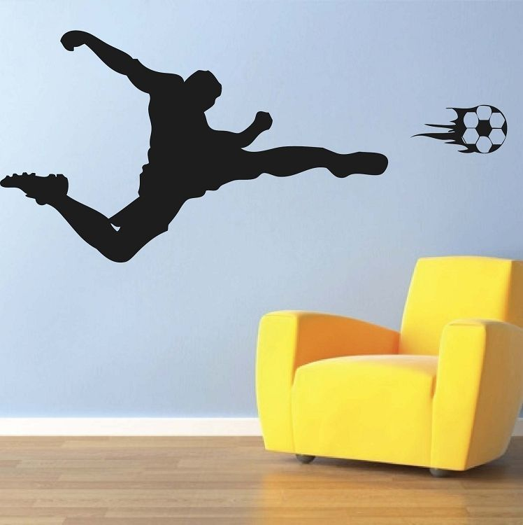 Soccer Flame Wall Decal Sport Mual Stickers Trendy Wall Designs Sports Wall Decals Sports Wall Kids Room Decals