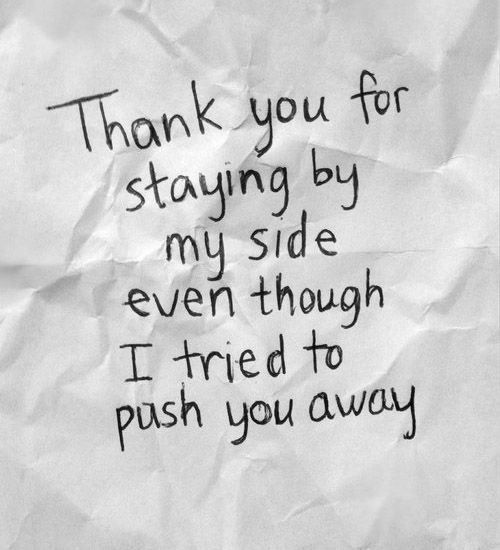 Thank You For Staying By My Side   Be yourself quotes, Thank ...