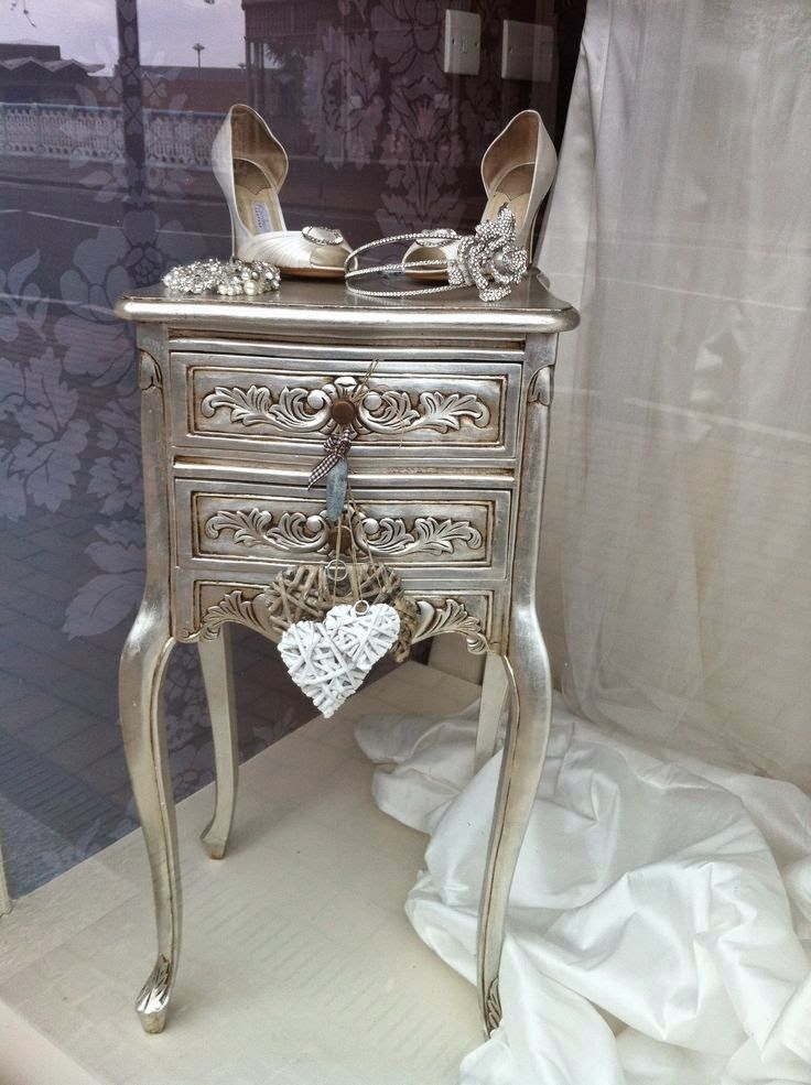 Wonderful Metallic Sassy Silver Painted Furniture. Newest Trend In Reloved Recycled  Furniture!