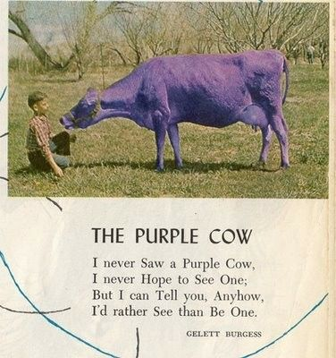 Childcraft, I love these books | Purple cow, Poetry for kids, Cow