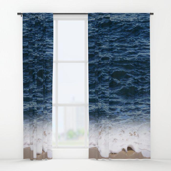 Ocean Window Curtain Blackout Curtain Sheer Curtain Coastal