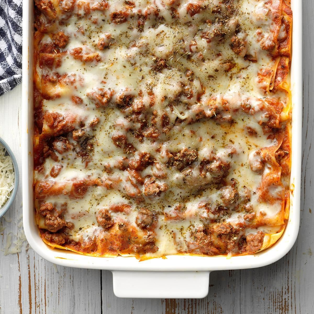 Perfect Four Cheese Lasagna Recipe Beef Recipes For Dinner Cheese Lasagna Beef Recipes Easy
