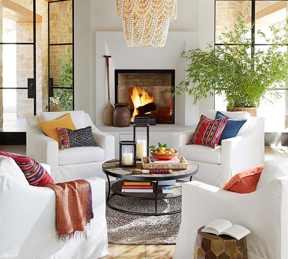 Love This Four Chair Living Room Arrangement