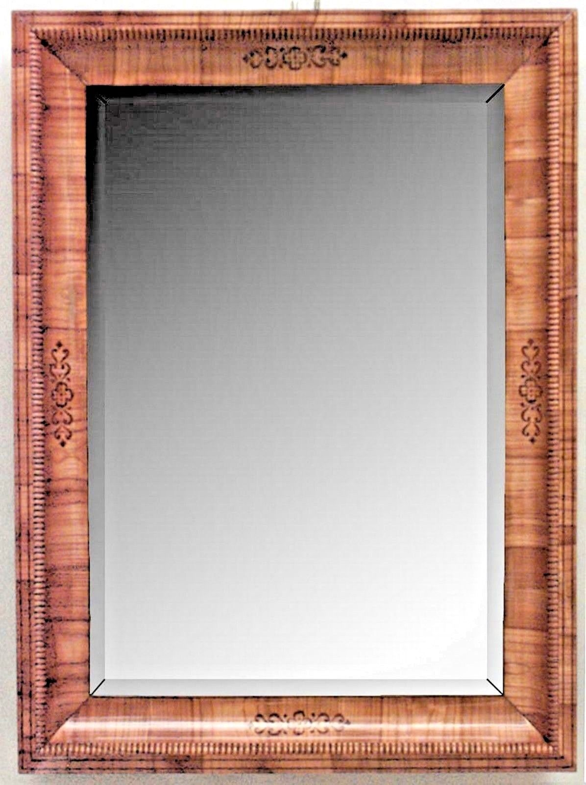 Austrian Biedermeier Cherrywood Rectangular Wall Mirror Antique Visit To Purchase