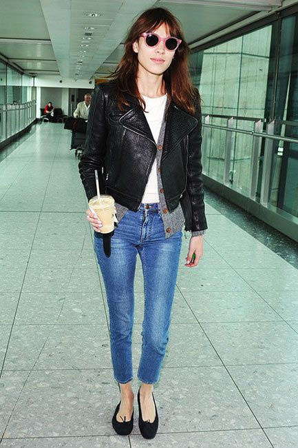 Alexa Chung arrived at Heathrow Airport on May 23rd in her