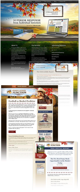 Financial Advertising Company Website Design Website Design Custom Website Design Portfolio Site