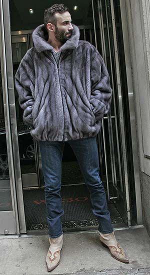 3bd05dc61539 Mens Blue Iris Mink Bomber Fur Jacket from Marc Kaufman Furs New York City