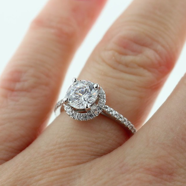 Anna Mieke Anderson S Put A Lab Created Diamond Ring Diamond Accent Engagement Rings Lab Created Diamond Rings Diamond Ring