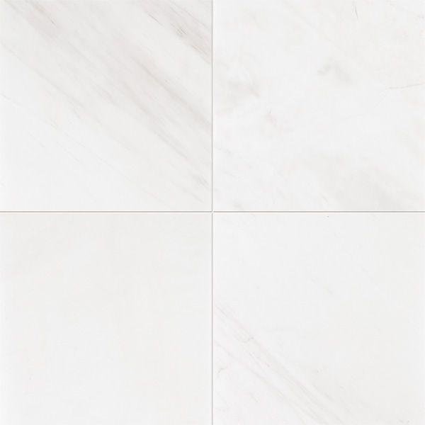 snow white honed marble tiles 12x12