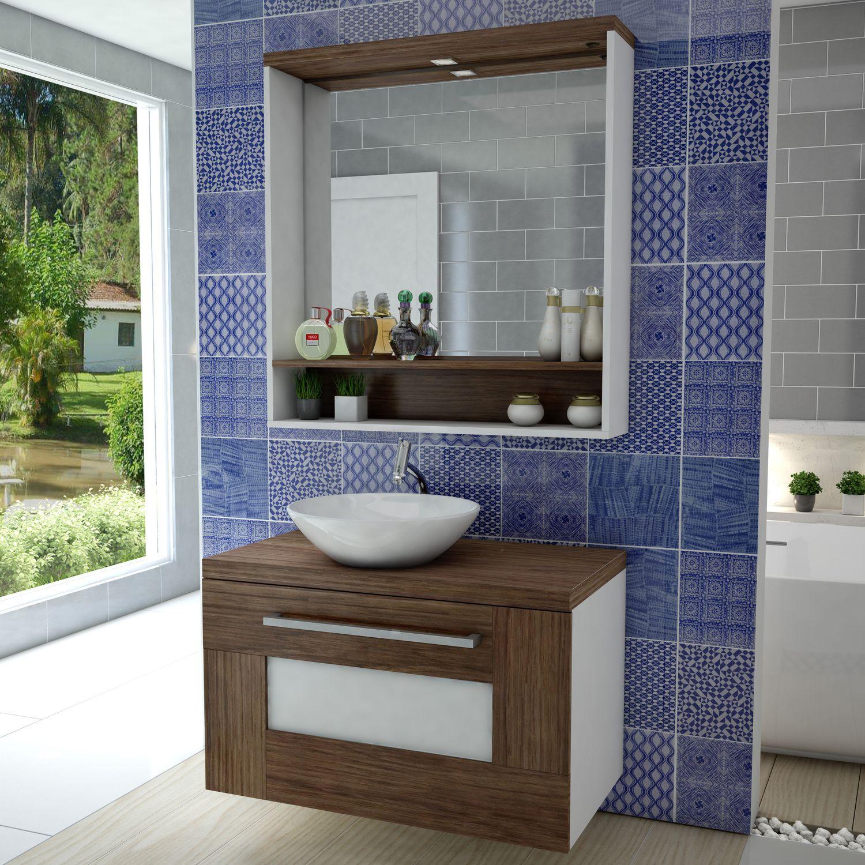 Que tal um balcão de pequeno porte? Assim seu banheiro fica com a impressão d -> Cuba De Apoio Para Banheiro Herval Ravenna