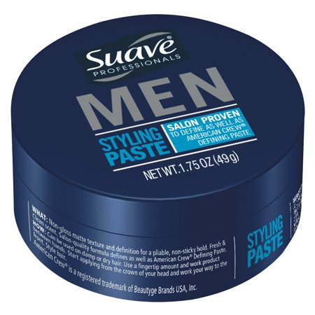 Suave Men Styling Paste Medium Hold 1 75 Oz Walmart Com Hair Gel For Men Suave Hair Products Suave