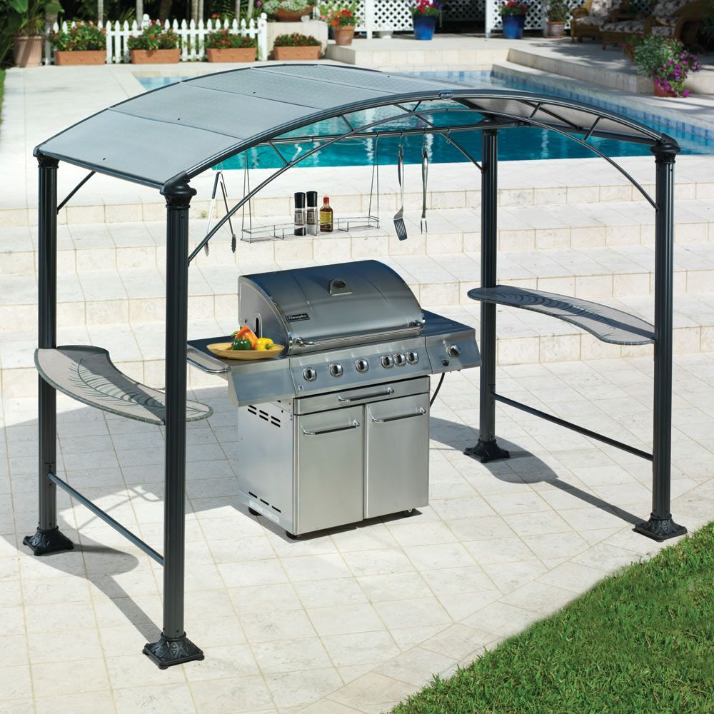 The Barbecue Gazebo Hammacher Schlemmer Auvent Barbecue Jardins