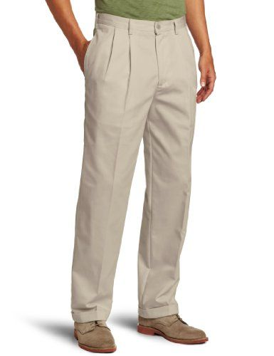 8b06778a4214 IZOD Mens American Chino Pleated Pant -- Continue to the product at ...