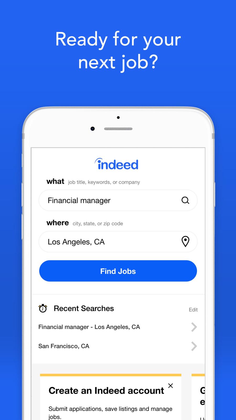 Indeed Job Search Ios Apps App Utilities Job Search Company Financials Job