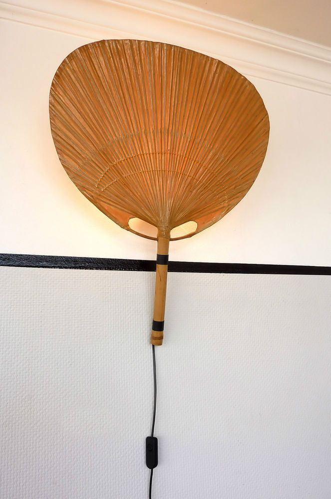seltene ingo maurer design m uchiwa iii wandleuchte lampe wall lamp vintage 70er ebay design. Black Bedroom Furniture Sets. Home Design Ideas