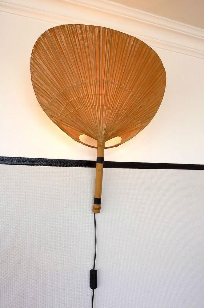 Seltene Ingo Maurer Design M Uchiwa Iii Wandleuchte Lampe Wall Lamp Vintage 70er Wall Lamp Lamp Design Lamp