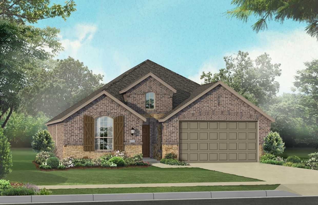 New Home Plan Dorchester in Forney TX